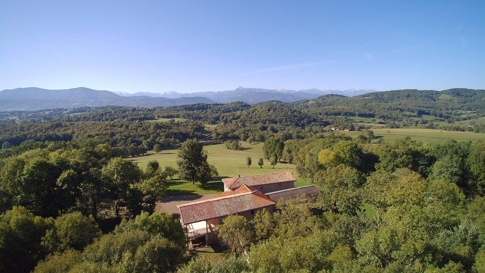 Aerial view of the Caville gite