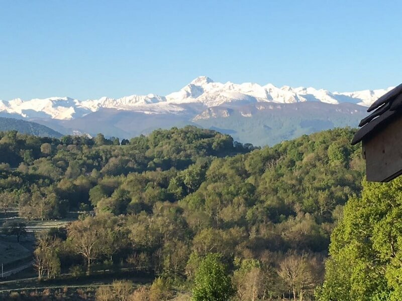 View over Pyrenees
