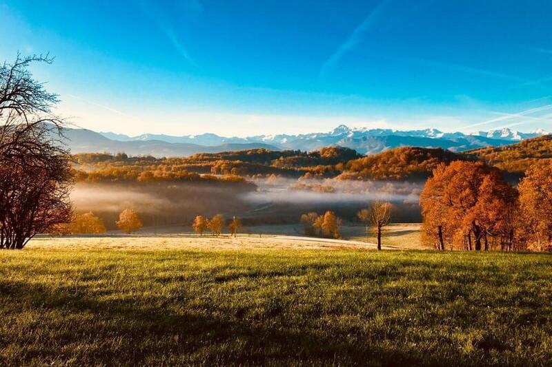 Vue du gite en automne